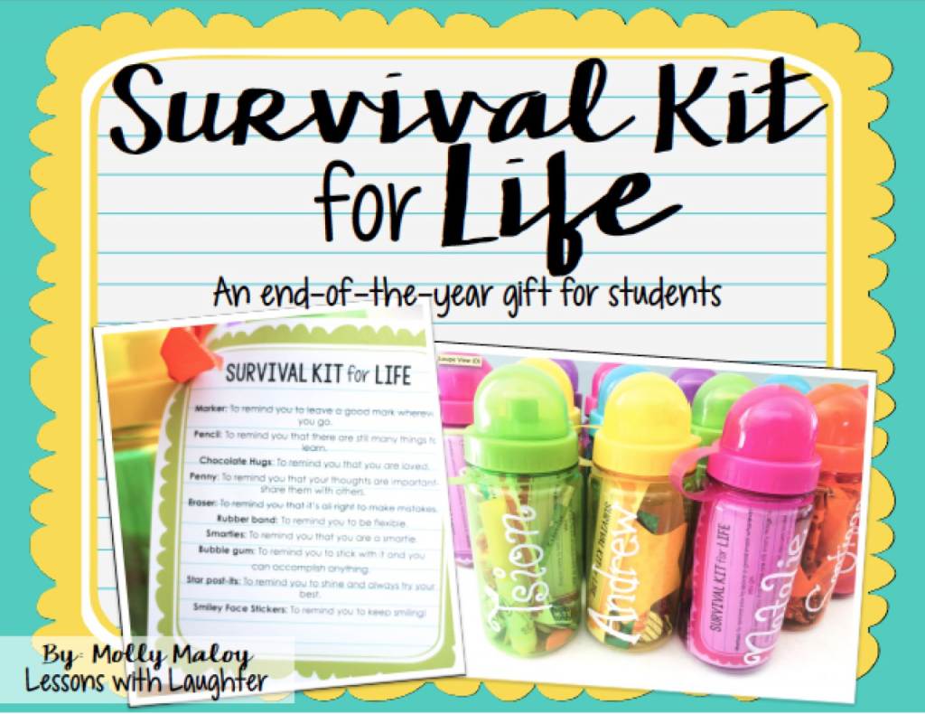 Michaels Classroom Decor ~ Survival kit for life an end of the year gift
