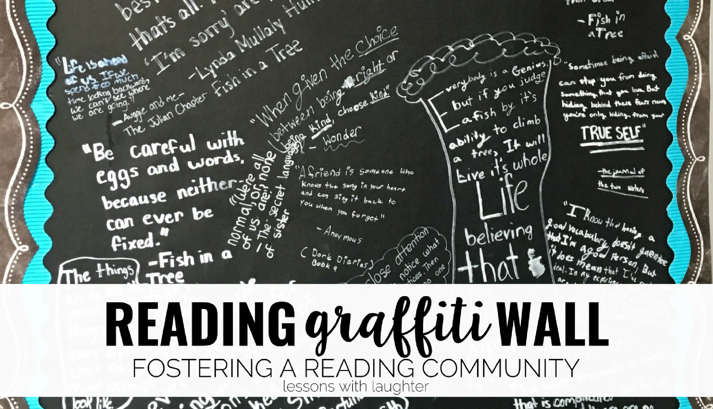 Graffiti wall pictures - Reading Graffiti Wall Fostering A Classroom Reading Community Lessons With Laughter